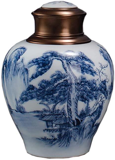 Urna de porcelana